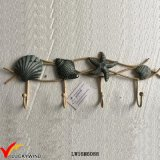 Seashell vintage metal artesanal ganchos decorativos de pared