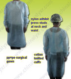 Robe chirurgicale non tissée de protection PE (LY-NSK-B)