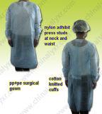 Vestido cirúrgico não tecido da proteção do PE (LY-NSK-B)