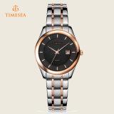 Cadeau analogique de montres-bracelet de quartz de bande d'acier inoxydable de montre de quartz de mode de femmes