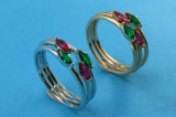 Anello di cristallo della nuova di arrivo dei monili di originale 925 dell'argento sterlina parte superiore dell'anello adatto a monili europei R10491 del branello di fascino