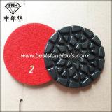 화강암 대리석 (100X6.0mm)를 위한 크롬 28 꽃 지면 닦는 패드