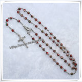Rosario all'ingrosso del branello del cuore del turchese del taglio di macchina, rosari religiosi (IO-cr122)