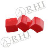 Tampas de extremidade macias do quadrado vermelho do PVC