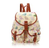 Os pássaros e as flores imprimem a trouxa retro Sh-16042914 da mochila do estilo
