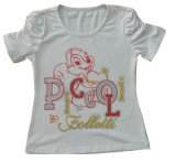 Children의 Wear Clothes Sgt-077에 있는 귀여운 Cat Kids Girl T-Shirt