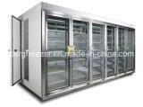 Commode Store Clear Glass Door Refrigerator pour boissons et nourriture