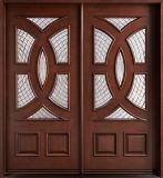 Portello solido del legname/portello della villa/doppio portello di legno di Sashed con il portello di vetro di legno solido