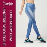 Mulheres Sexy Tight Leggings Plain Blue Jeggings & Leggings L97037