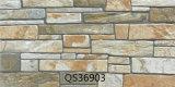 3D屋外のための陶磁器の石造りの無作法な外壁のタイル(300X600mm)