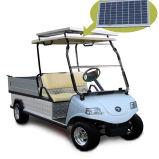 Carro del cargo del vehículo eléctrico con el panel solar