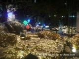 Ornement de Noël de réverbère de rideau en décoration de pelouse de jardin de DEL