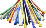 Fechamento plástico ajustável do laço do fechamento de nylon da tração do cabo/cinta plástica plástica