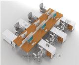 Рабочая станция офиса самомоднейшей персоны офисной мебели 6 прямая (HF-YZK023)