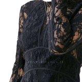 Платье пирофакела партии вечера Keyhole задней части втулки шнурка Knit повелительниц длиннее с конструкцией дневников Jetset