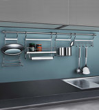 光沢度の高いPVC L字型卸し売りモジュラー木の台所家具(OP14-125)