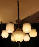 Lumière européenne de maison de décoration avec du marbre espagnol, lampe pendante