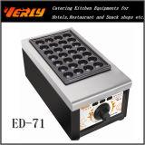 Gauffreuse ED-71 de plat chaud de Fishball de gaz
