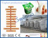 ヨーグルトの加工ラインかき混ぜられたヨーグルトの加工ライン発酵のヨーグルトをセットしなさい