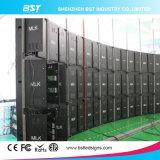 Heiße Verkauf P10 SMD3535 im Freien gebogene farbenreiche LED-Bildschirmanzeige für Handelspiazza