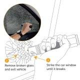 レスキューシートベルトのカッターの脱出のWindowsのブレーカの存続LEDの懐中電燈が付いている1つの車の緊急のツールに付き3つ