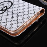 Big caldo Brand Bag Luxury Grid Stripe Cover per iPhone6