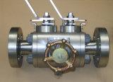 Bloc de double d'api 6D et robinet à tournant sphérique de purge de flottement