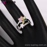 Кольцо женщин родия роскошного цветка способа Xuping шикарное с Zircon