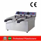 friteuse électrique d'acier inoxydable de la qualité 8L+8L avec du ce (WF-082L)