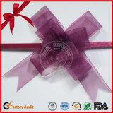 Preciosa púrpura PP mariposa tirar en arco para envolver como regalo