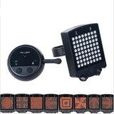 64의 LED Laser 자전거 후방 테일 빛 USB 재충전용 무선 원격 제어 우회 신호 안전 경고 자전거 빛
