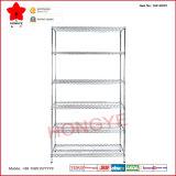 Six couches de chrome de fil d'affichage du support de stockage (OW-WD01)