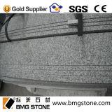 Escaliers bon marché faits sur commande de pierre du granit G603 de la Chine/opérations/semelle/canalisation verticale