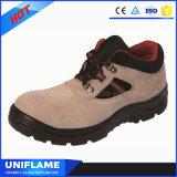 Ботинки безопасности кожи крышки пальца ноги стильной работы женщин полесья стальные