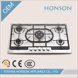 Fornello di gas della fresa del gas dei bruciatori degli apparecchi di cucina di alta qualità cinque