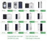 Sunpower 태양 전지판을%s 가진 1개의 태양 가로등에서 60*120degree 40W 50W 60W 전부