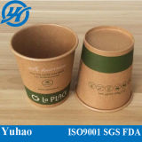 La fábrica suministra la taza de café del papel del arte de Brown