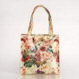 Tres tallas impermeabilizan el bolso floral de los bolsos de compras del PVC (T042-1)