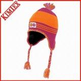 Invierno de acrílico hecho punto Jacquard Crochet Hat