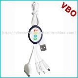 4 en 1 câble de remplissage de téléphone mobile universel, qualité 4 en 1 câble de caractéristiques de remplissage multi d'USB