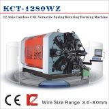 Kcmco-Kct-1280wz 8m m rotación agrícola versátil Camless del resorte del CNC de 12 ejes que forma el resorte de Machine&Torsion/Tension/Scroll que hace la máquina