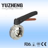 Fournisseur pneumatique sanitaire de vanne papillon de Yuzheng