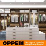 Modernes hölzernes Luxuxkorn-Walk-in Schlafzimmer-Wandschrank-Garderoben-Entwurf (YG16-M08)