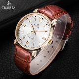 Relógios de pulso unisex por atacado do couro da qualidade superior de China para Couples70002