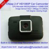"""La caméra d'enregistreur numérique de voiture HD1080p la moins chère avec écran HD TFT 2,4 """", sortie HDMI, sortie AV, vision nocturne, lentille 4G, angle de vue de 120 degrés, voiture DVR-2406"""