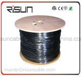 Двойной кабель LAN куртки (PE+PVC) UTP Cat5e с 305m