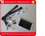 Изготовленный на заказ талрепы мобильного телефона полиэфира с логосом печатание экрана