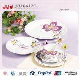 La meilleure vaisselle carrée de porcelaine de forme de la qualité 20PCS