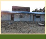 Casa pré-fabricada do frame da construção de aço
