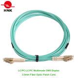 Шнур заплаты оптического волокна 50 Om3 LC/Sc/FC/St/Mu/MTRJ PC/Upc/APC симплексный двухшпиндельный мультимодный